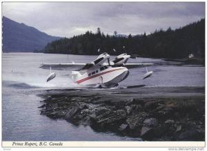 Airplane , Seaplane Base / Airport , Prince Rupert . B.C. , Canada , 1950-60s