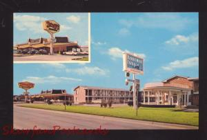 TULSA OKLAHOMA ROUTE 66 DENNY'S RESTAURANT VINTAGE ADVERTISING POSTCARD