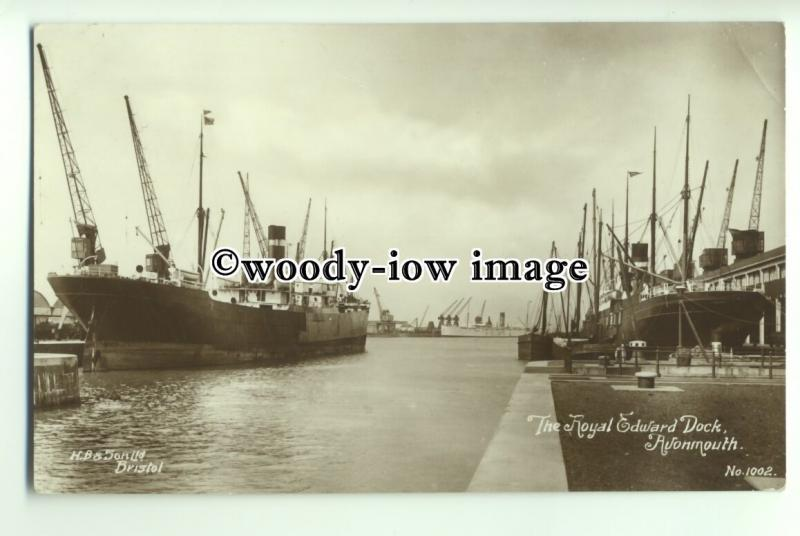 tp9196 - Somerset - The Royal Edward Dock back in 1913, at Avonmouth - postcard