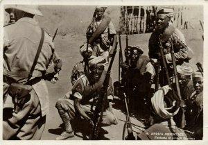 PC CPA LIBIA, FANTASIA DI SOLDATI, Vintage REAL PHOTO Postcard (b16617)