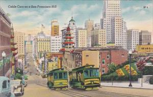Cable Cars On A San Francisco Hill California 1951