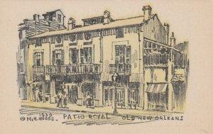 OLD NEW ORLEANS, Louisiana, 1939; Patio Royal, AS; M.H. HOBBS