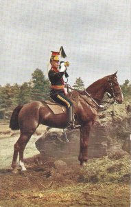 The Royal Irish Lancers . Trmpeter Review Order Tuck Oilette PC # 9367