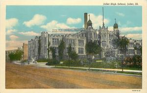 Joliet Illinois~Joliet High School~1920s Postcard