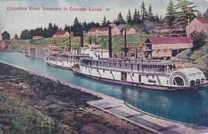 Oregon Columbia River Steamers In Cascade Locks