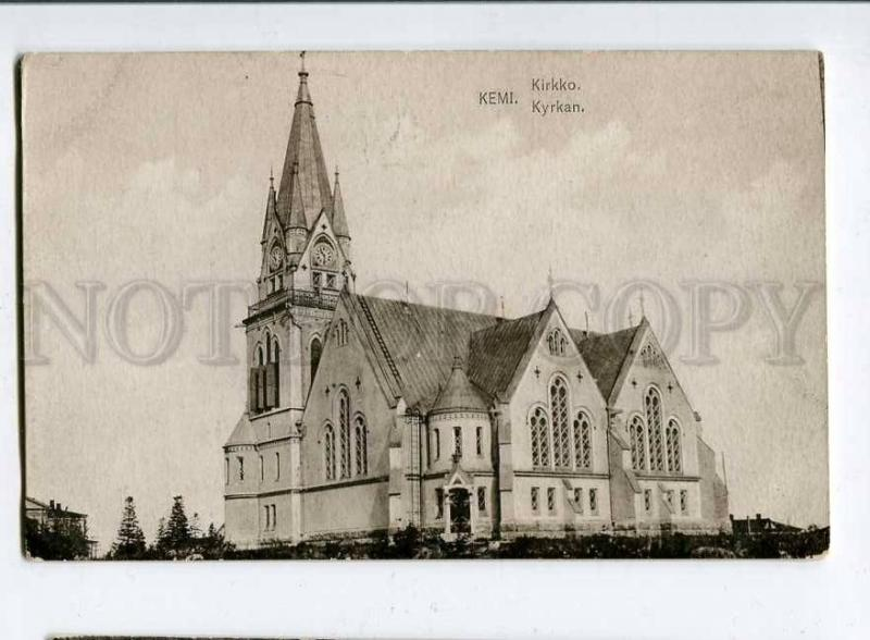 258174 FINLAND KEMI church Vintage postcard