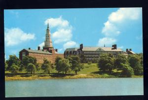 Waterville, Maine/ME Postcard, View Of Colby College Across Johnson Pond