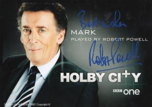Robert Powell as Mark BBC Holby City Hand Signed Cast Card Photo