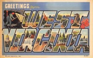West Virginia~Places In West Virginia~1940 Postcard