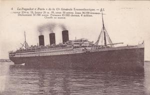 La Paquebot PARIS , Ocean Liner , 1900-10s