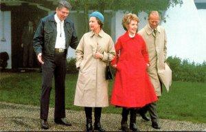 President Ronald Reagan & Nancy Greet Queen Elizabeth II and Prince Phillip 1...