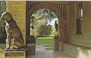 Hound Statue, Charles C. Rumsey, Brookgreen Gardens, Murrells Inlet, South ...