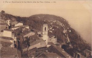 Vue sur Roquebrune et le Cap Martin prise du Vieux Chateau, Alpes Maritimes, ...