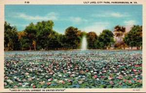 West Virginia Parkersburg City Park Lily Lake Curteich