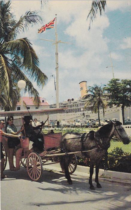 Horse Carriage, NASSAU, Bahamas, 40-60's