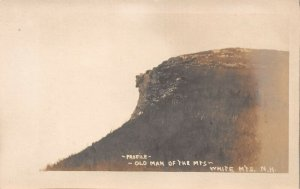 LPS07 White Mountains New Hampshire Old Man of the Mountains Postcard RPPC