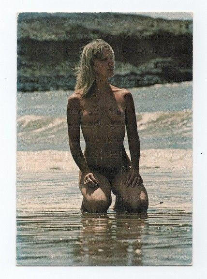 Postcard 1960 years nudes nude woman bathing beauty bikini pin up girl girls