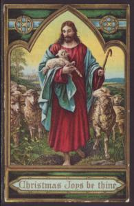 Christmas Joys,Jesus,Good Shepherd Postcard