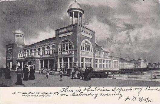 New Jersey Atlantic City The Steel Pier 1906