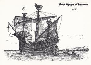 John Jay Bristol Ship 1480 Voyage Of Discovery Ireland Postcard