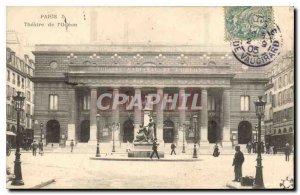 Old Postcard Paris Theater Odeon