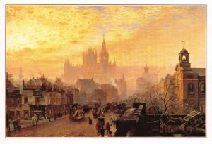Postcard Art St. Pancras Hotel & Station London by John O'Connor (1884) #185