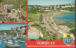 Postcard Multiview c1980's TORQUAY Devon by Ashton Reed Europa Cards