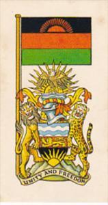 Vintage Trade Card Brooke Bond Tea Flags and Emblems Of The World No 18 Malawi