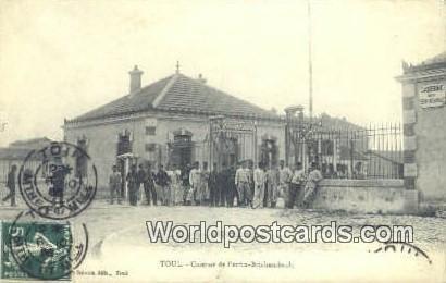 Caserne de Perrin Brichambault Toul, France, Carte, 1907 Stamp on front