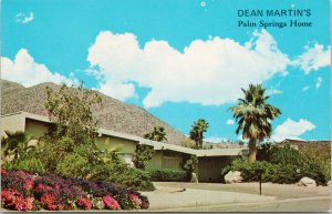 Dean Martin's Home Palm Strings CA Unused Vintage Postcard F65