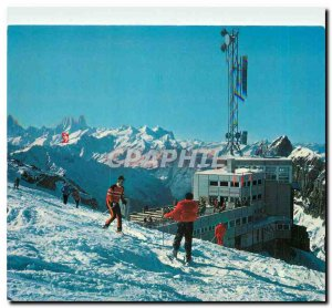 Postcard Modern Titlis Gipfelrestaurant
