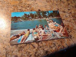 Vintage 1966 Bledsoes Beach, Indiana Postcard