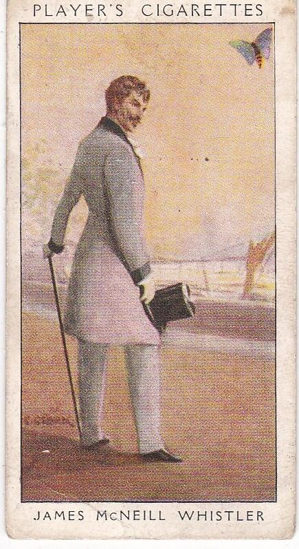 Cigarette Card Player's Dandies No 48 James McNeill Whistler