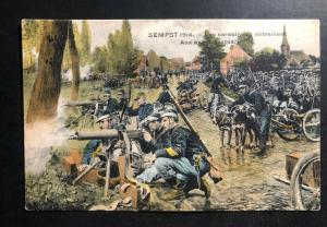 Mint France PPC Picture Postcard 1914 Riflemen strafe at the front