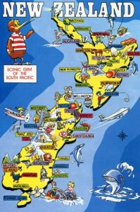 NEW ZEALAND: SCENIC GEM OF THE SOUTH PACIFIC MAP