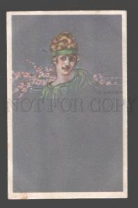089623 ART DECO Glamour BELLE Lady by ZANDRINO vintage Italy