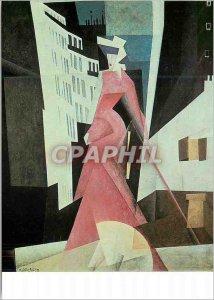 Postcard Modern Bornemisza Lyonel Feininger (1871 1956) the Lady in Purple