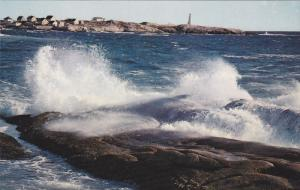 Peggy's Cove LIGHTHOUSE , Nova Scotia , Canada , 50-60s #1