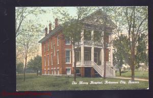 ARKANSAS CITY KANSAS THE MERCY HOSPITAL ANTIQUE VINTAGE POSTCARD 1909
