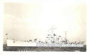 USS Savannah Real Photo Military Ship Unused