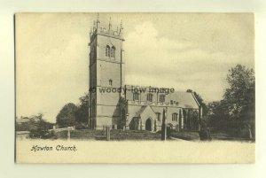 cu1503 - Hawton Church , Nottinghamshire - postcard