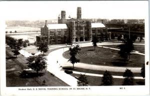 RPPC   BRONX, NY   U.S. Naval Training School   STUDENT HALL  1944  Postcard