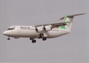 MAHAN AIR, BAe-146-300, unused Postcard