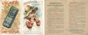 Horsfords Acid Phosphate, Providence RI, USA Trade Card Approx Size Inches = ...