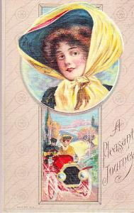 A Pleasant Journey 1912  Woman in Early Automotive Dress