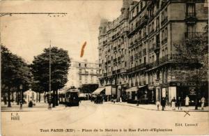 CPA TOUT PARIS 12e Place de la Nation. Rue Fabre-d'Eglantine F. Fleury (574630)