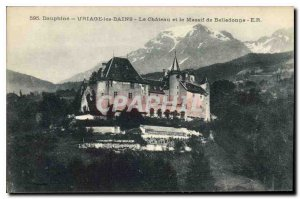 Old Postcard Dauphine Uriage les Bains Chateau and Belledonne