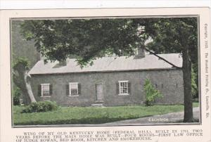 Kentucky Louisville Wing Of My Old Kentucky Home Federal Hill