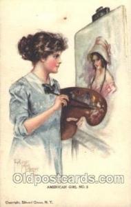 Pearl Eugenia Fidler,  Artist Signed Postcard Postcards American Girl No. 2 P...