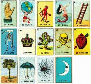 Mexican Loteria Figuritas Lot of 14 Postcards